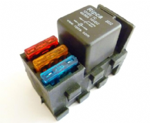 Automotive relay holder + triple fuse holder     ALT/REL-F-09